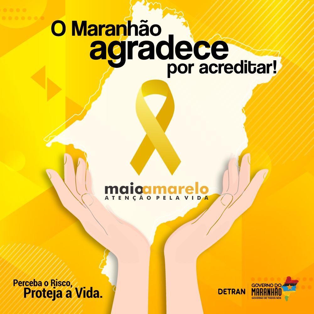 Maio Amarelo: O Detean-MA agradece a quem participou