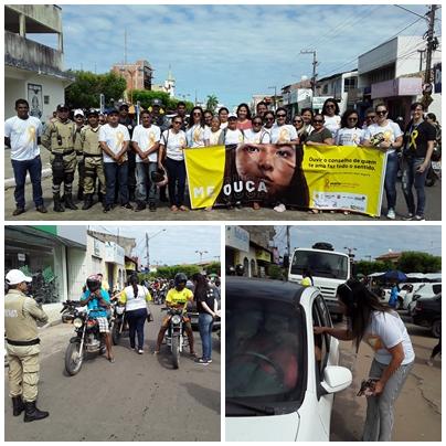 6ª CIRETRAN em parceria com DMT, PM  e Secretaria Municipal de Saúde realizam Blitz  no Centro de Chapadinha