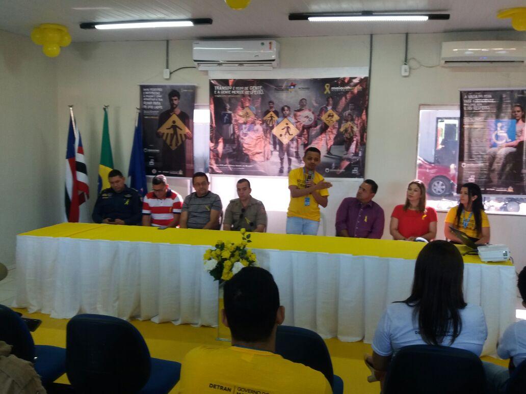 Solenidade de Abertura do Maio Amarelo na Cidade de Balsas