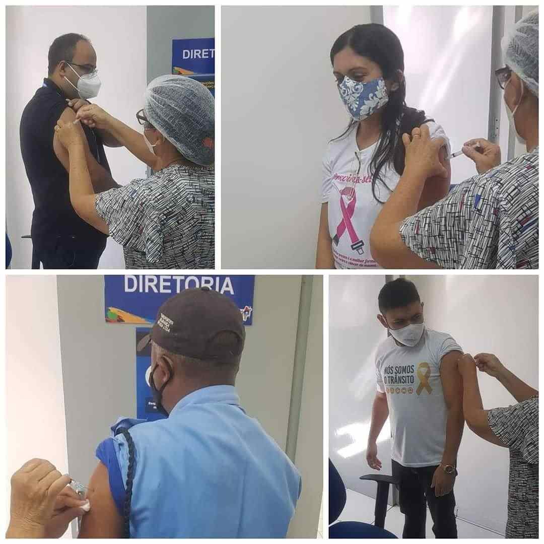 Servidores da CIRETRAN de São João dos Patos recebem vacinas contra Influenza H1N1
