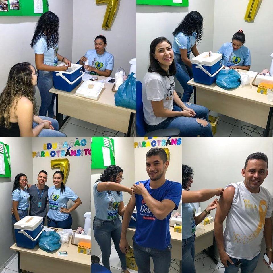 Ciretran de Pedreiras oferece Vacinação para os Funcionários