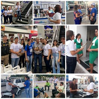 6ª CIRETRAN em parceria com DMT realizam abordagem educativa em comércios do centro de Chapadinha