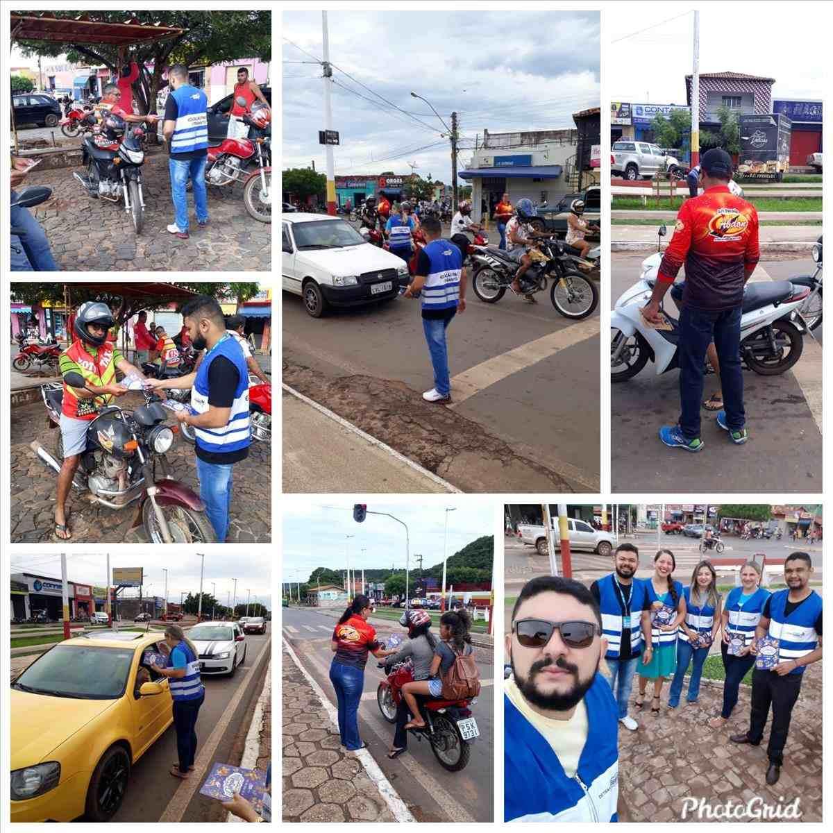 15ª Ciretran realiza ação educativa em avenidas de São João dos Patos