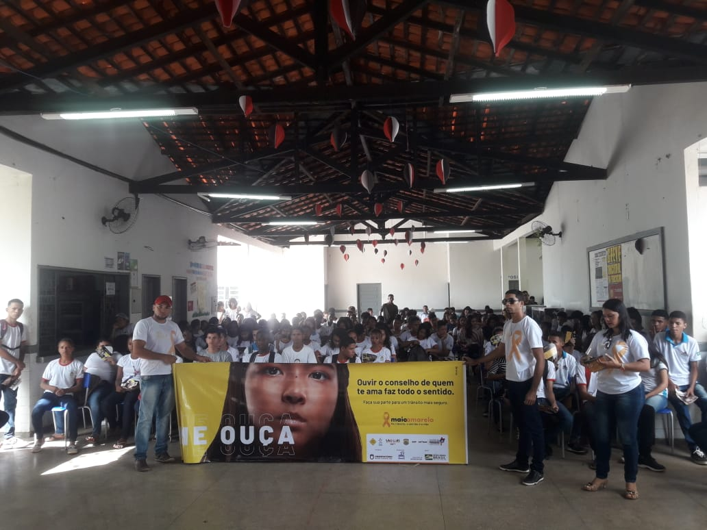 Detran realiza palestra com o tema da Campanha Maio Amarelo 2019