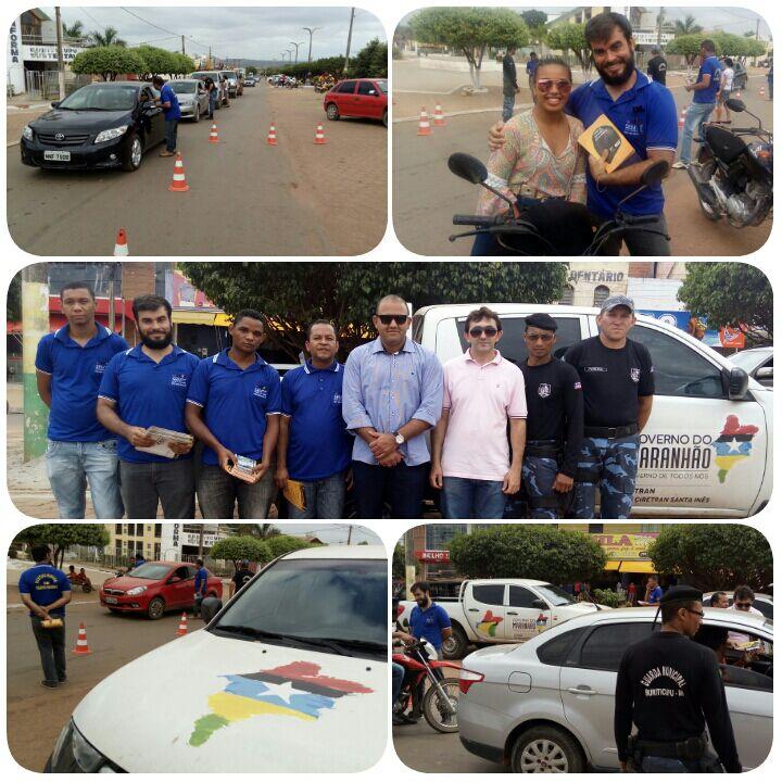 Blitz Educativa alerta sobre a importância da segurança no Trânsito em Buriticupu