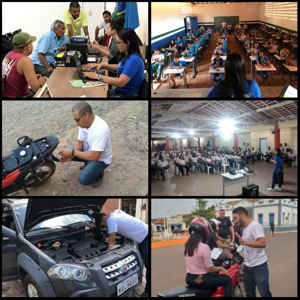 2ª Ciretran realiza ação itinerante e campanhas educativas no município de Buriti Bravo
