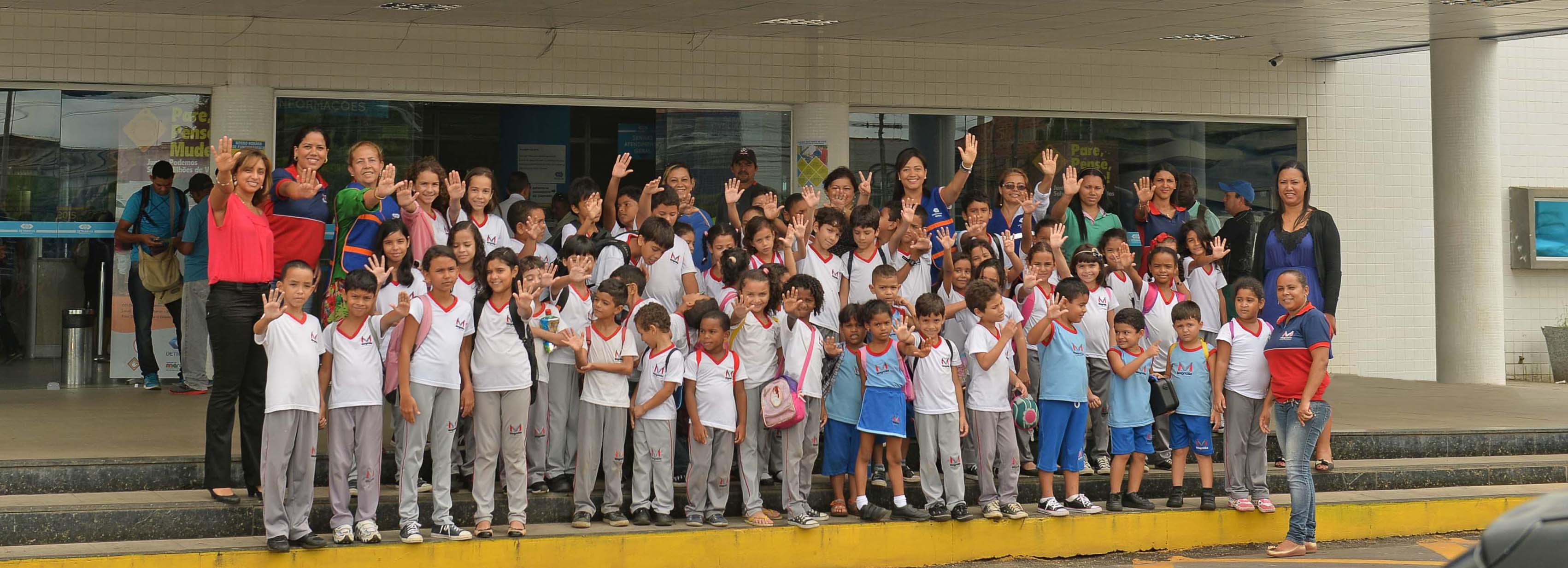 Crianças visitam o Detran-MA para conhecer a importância da fiscalização do trânsito