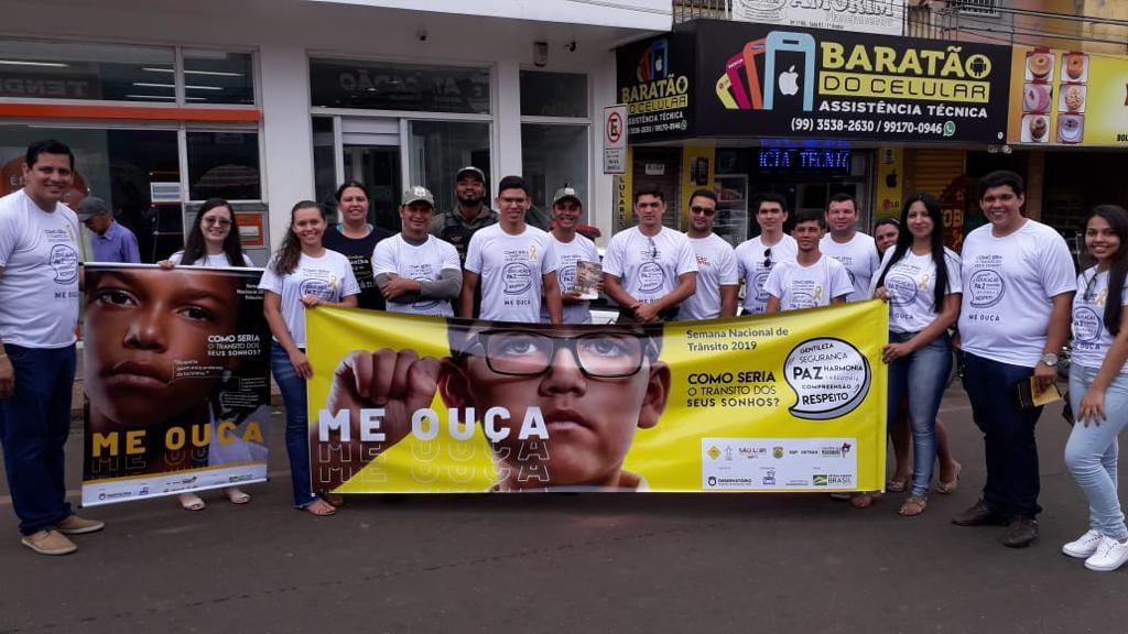 11ª CIRETRAN e DMT abrem Semana Nacional do Trânsito com ação educativa em Açailândia!