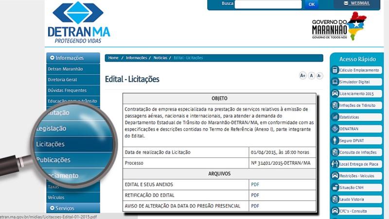 Licitações do Detran-MA já podem ser acompanhadas pela internet