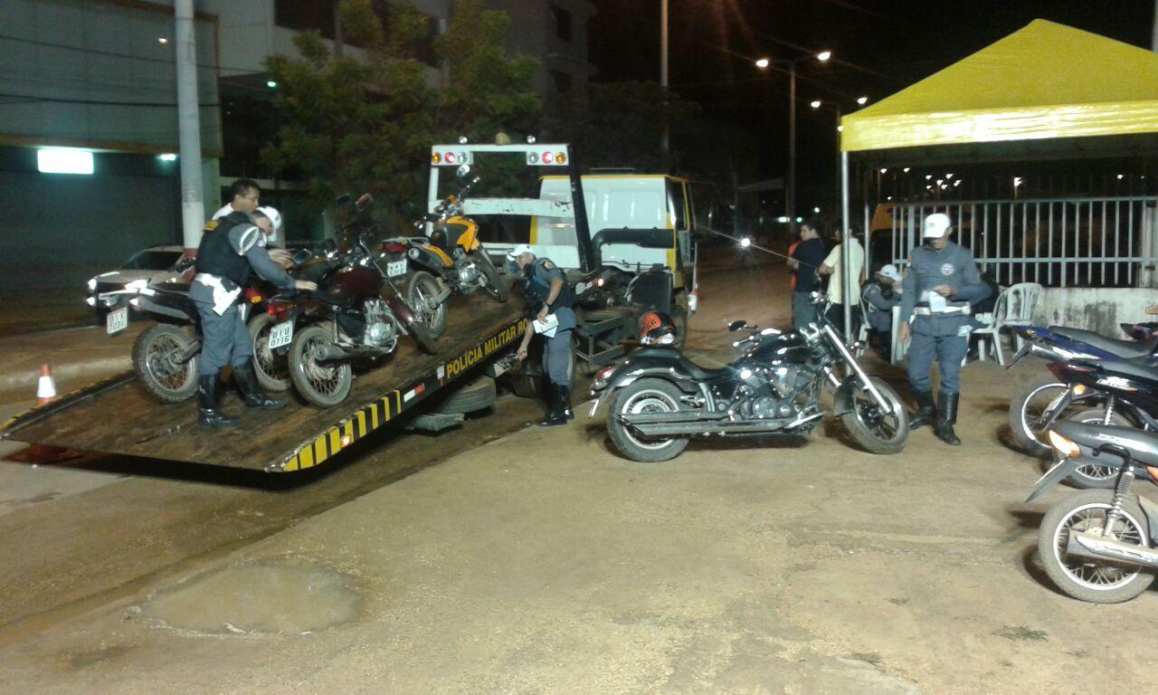 Operação Lei Seca flagra alto índice de motociclistas sem habilitação