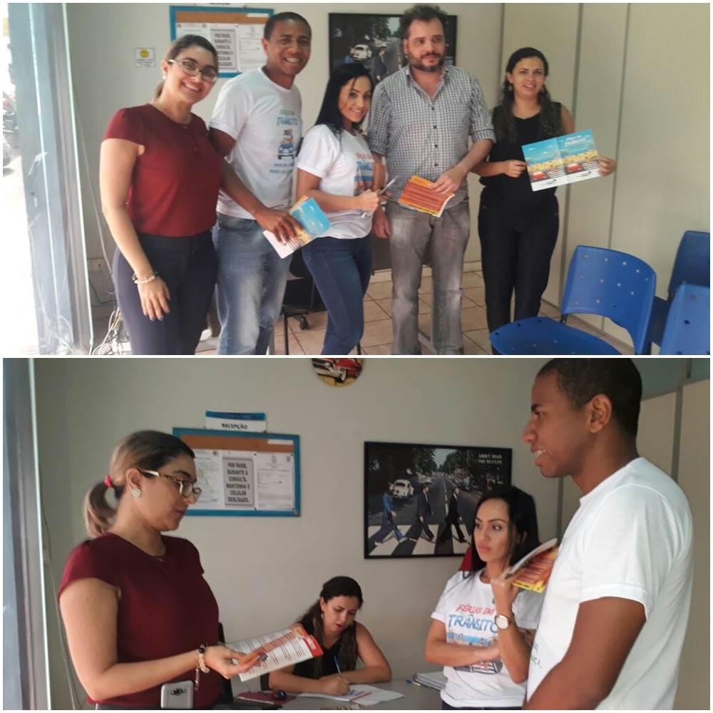 Ação educativa do Detran-MA para usuários em clínica credenciada