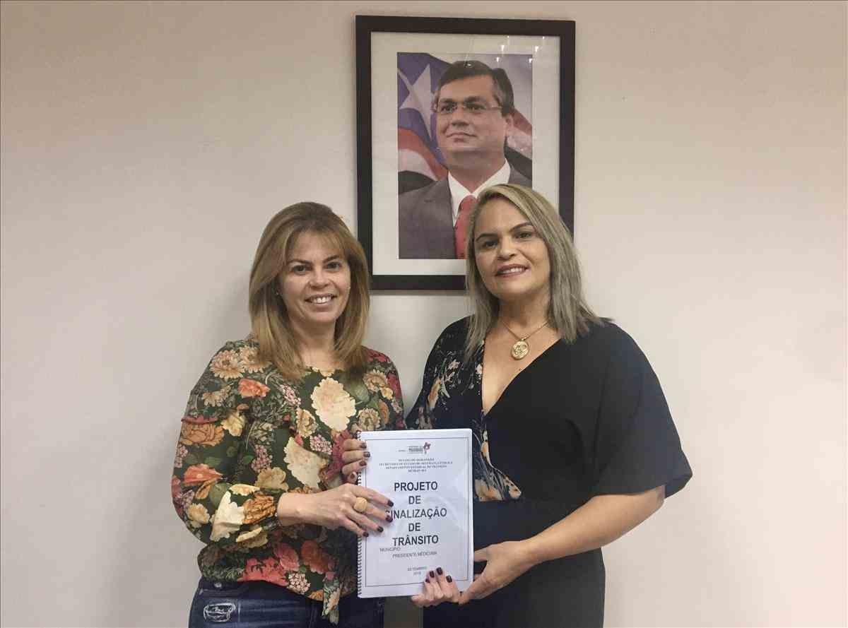 Detran-MA entrega Projeto de Sinalização Viária ao município de Presidente Médici