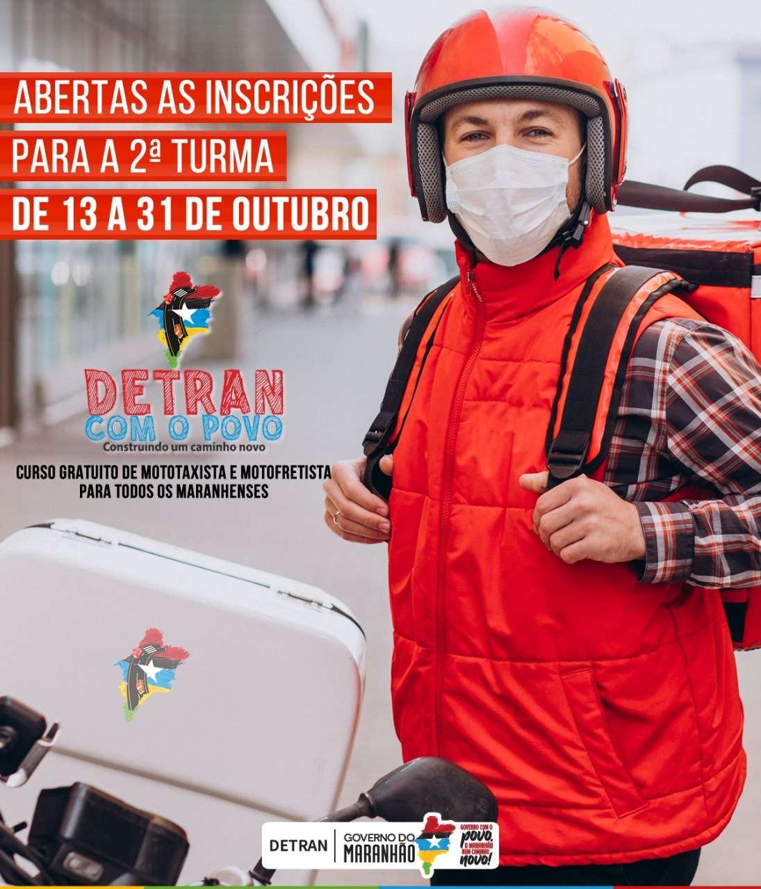 Detran-MA abre inscrições para segunda turma dos Cursos on-line para mototaxistas e motofretistas