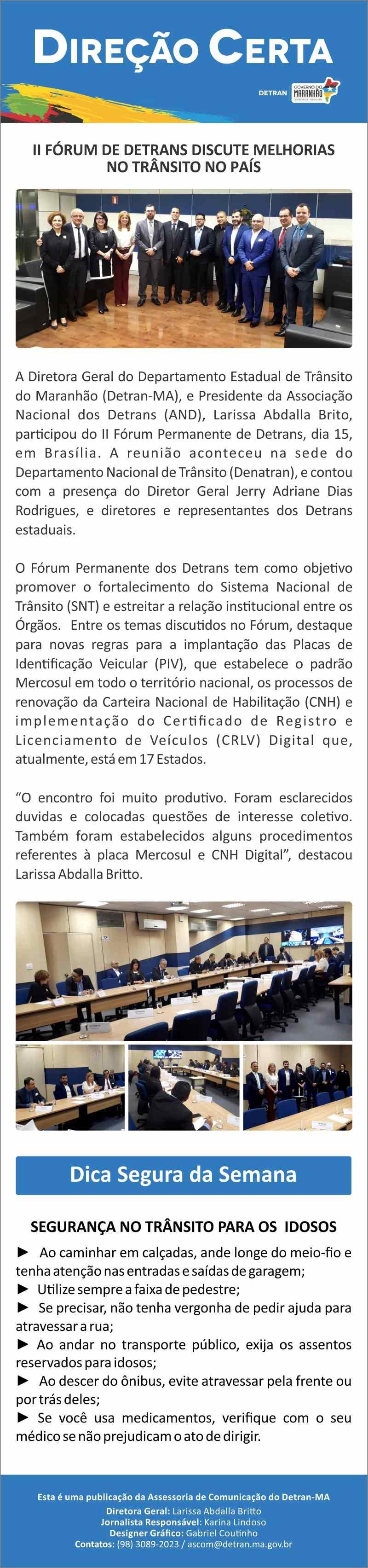 II Fórum de Detrans discute melhorias no trânsito no País