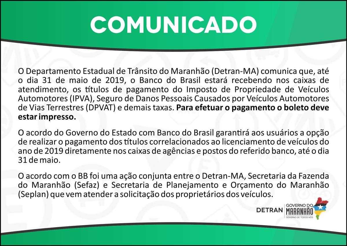 COMUNICADO - Banco do Brasil