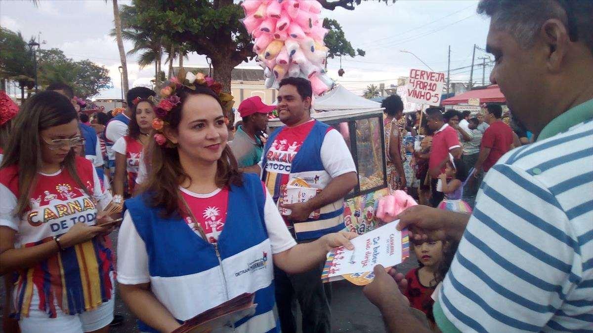 Ações educativas do Detran alcançam milhares de pessoas no Carnaval de Todos 2018