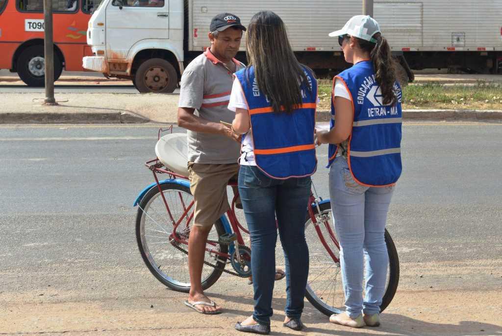 Detran-MA comemora Dia Nacional do Ciclista com ações educativas