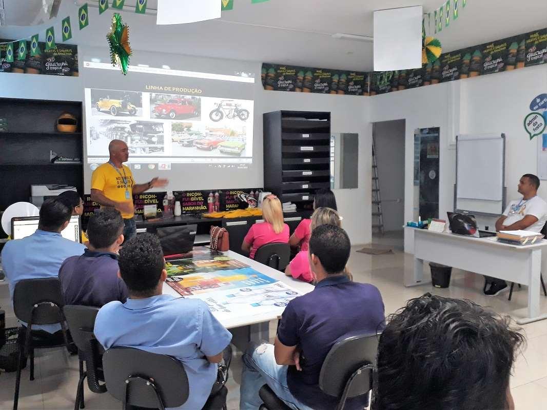 Detran-MA leva palestra educativa sobre trânsito para empresa de bebidas em São Luís