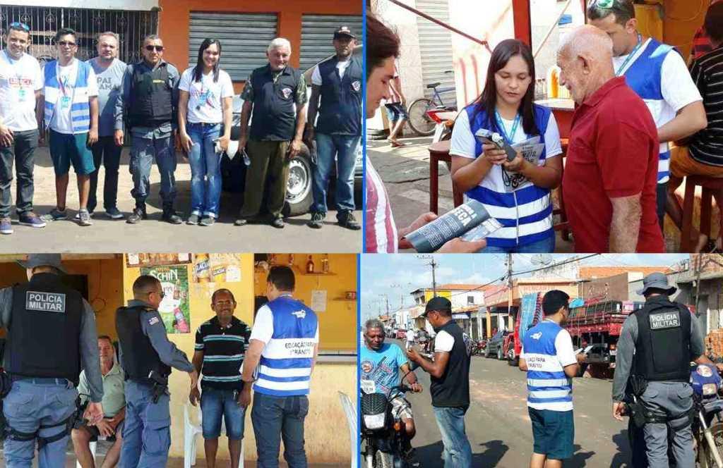 Ciretran de Pedreiras realiza blitz educativa em Igarapé Grande
